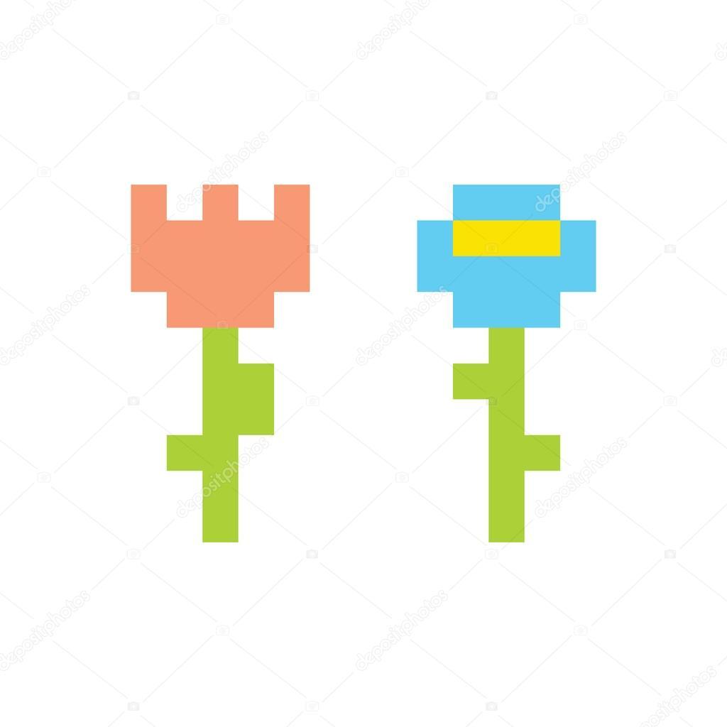 Simple Flower Pixel Art Pixel Art Style Simple Flowers