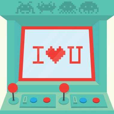 I love you arcade machine
