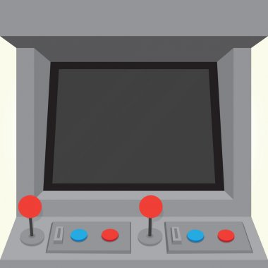 Arcade machine retro game cabinet isolated vector stock vector