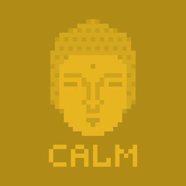 Calm pixel buddha