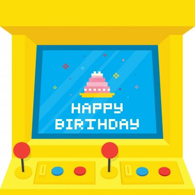 Arcade machine cake birthday