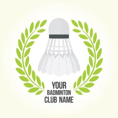 Badminton vector club logo