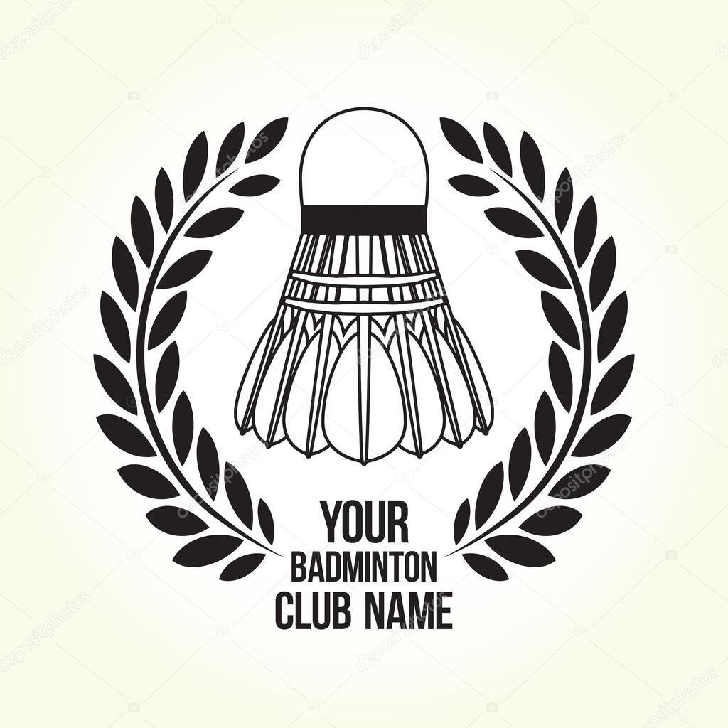 Badminton silhouette club logo — Stock Vector © dmitriylo