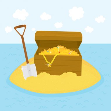 Island treasures vector illustration