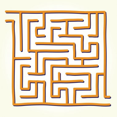 Hand drawn labyrinth vector