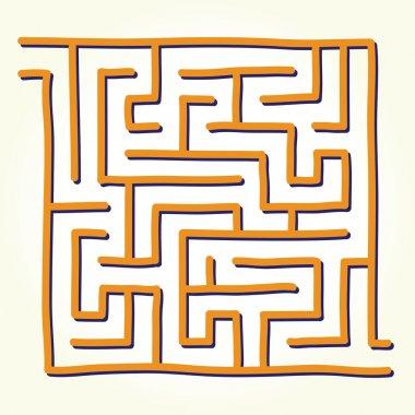Hand drawn labyrinth vector