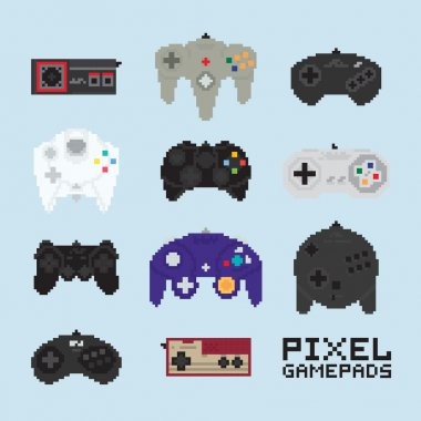 Pixel art isolated vector gampads