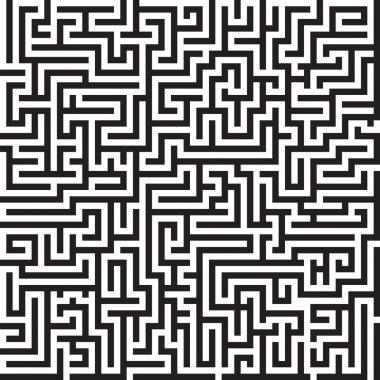 Maze seamless vector pattern