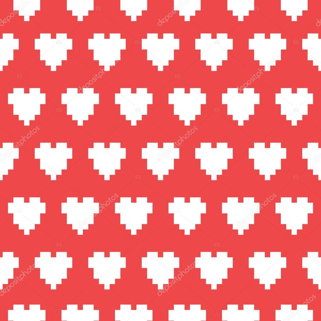 Modèle De Pixel Art Cœur Vectorielle Continue Image