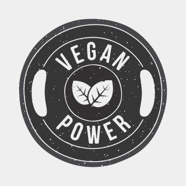 Vegan power gym vector illustration