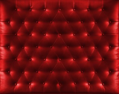 Close up retro chesterfield style, Red capitone textile backgrou