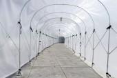 Műanyag alagút Gárda ellen eső vagy napfény, mozgatni a kerék