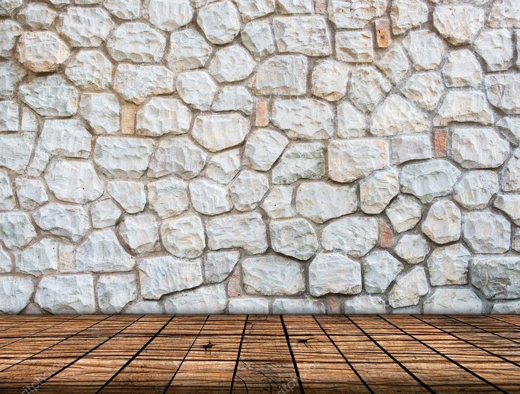 Stenen Muur Interieur : Stenen muur op houten vloer kamer interieur moderne stijl