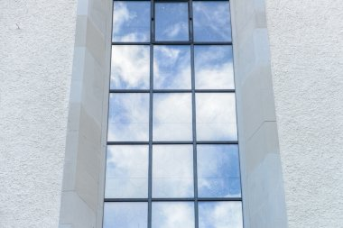 Clouds reflected in classic windows