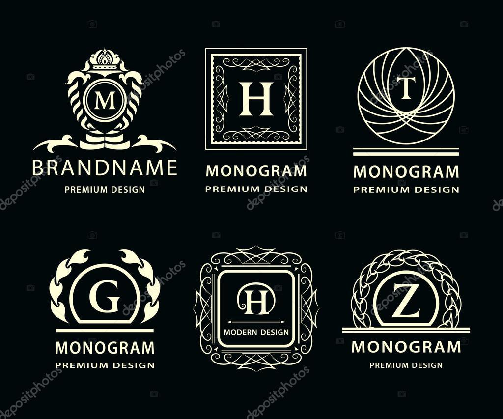 Depositphotos 105844466 Stock Illustration Monogram Design Elements Graceful Template