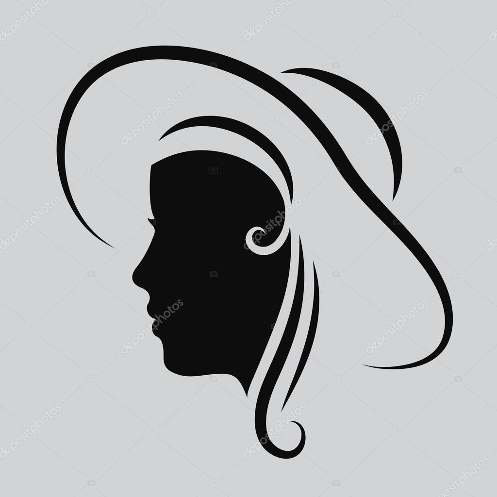 Woman face logo abstract logo profile beautiful woman for Abstract salon of the arts