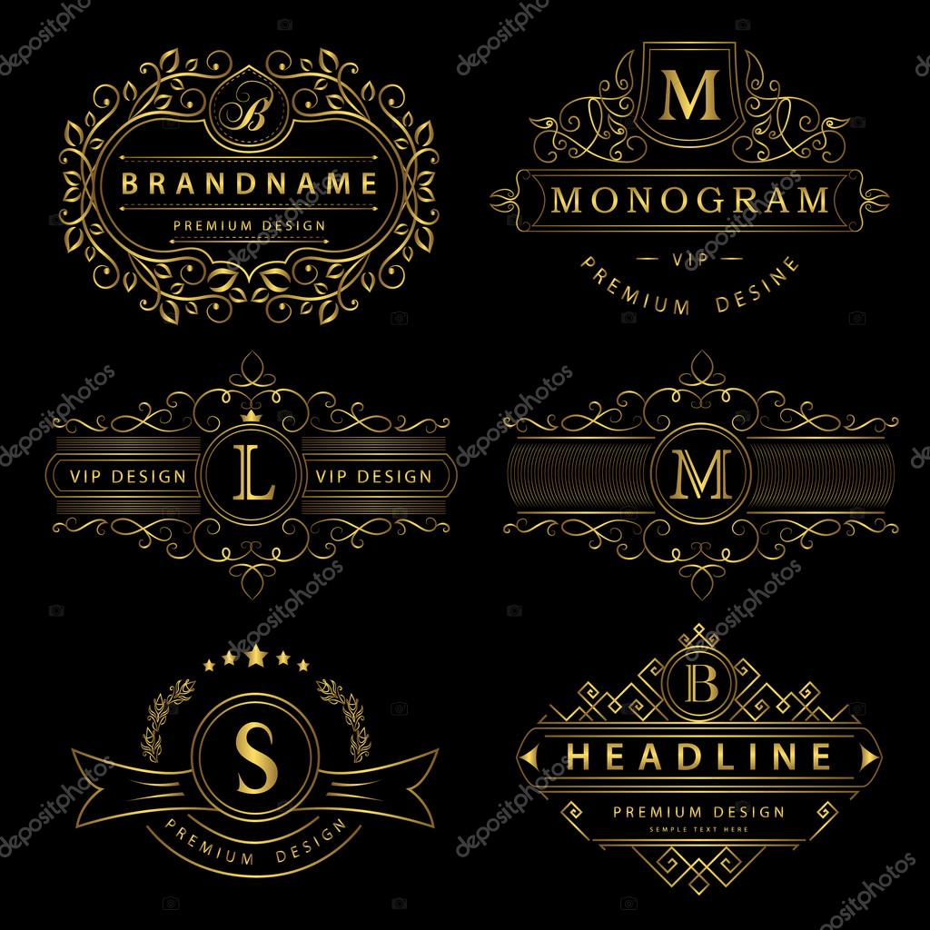Monogram design elements graceful template calligraphic elegant monogram design elements graceful template calligraphic elegant line art logo design gold letter pronofoot35fo Images