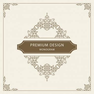 Vector illustration of Vintage Ornament Greeting Card Vector Template. Retro Luxury Invitation, Royal Certificate. Flourishes frame. Vintage Background, Vintage Frame, Vintage Ornament, Ornaments Vector, Ornamental Frame. clip art vector