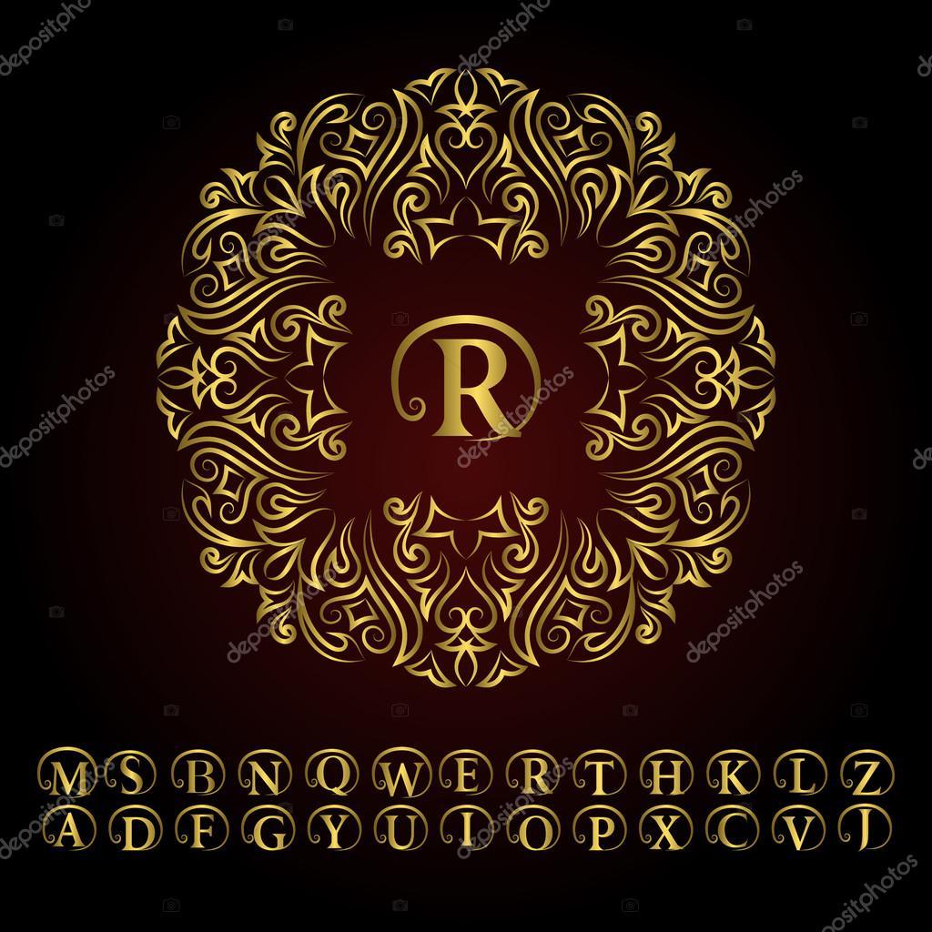 Letter Monogram Template Download on