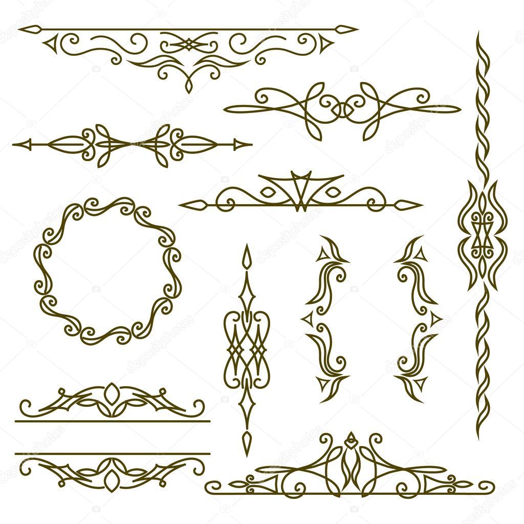 Monogramm-Design-Elemente, anmutige Vorlage. Elegante Linie Kunst ...