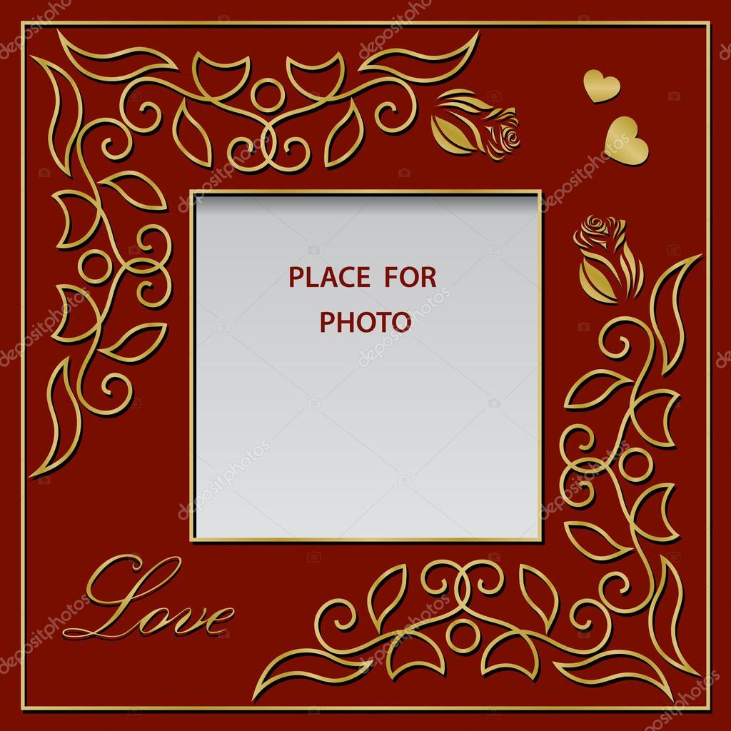 Blank Photo Frame Postcard Or Greetings Card Graceful