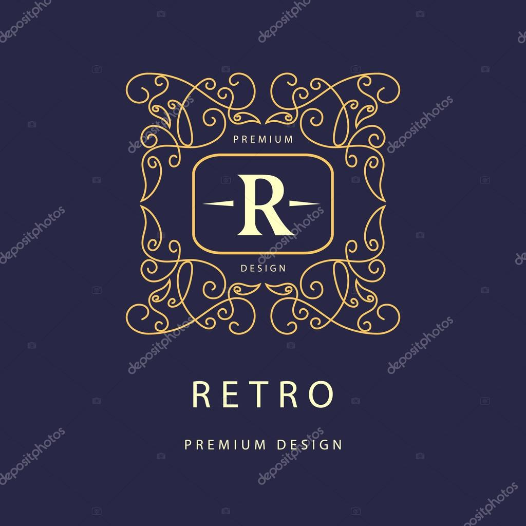 Vector graphic design business logo - Vector Illustration Of Monogram Design Elements Graceful Template Elegant Line Art Logo Design Business Sign Identity For Restaurant Royalty Boutique