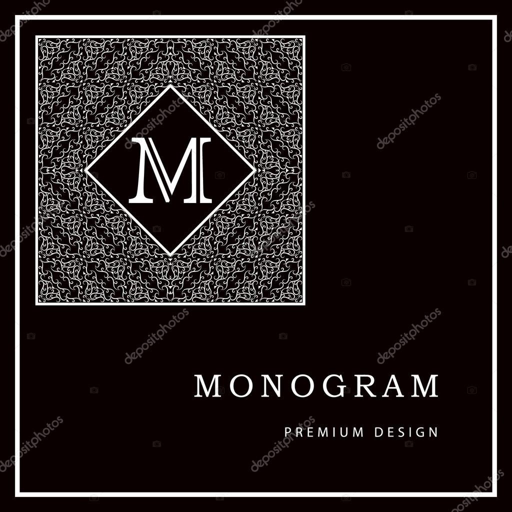 monogram design elements graceful template calligraphic elegant
