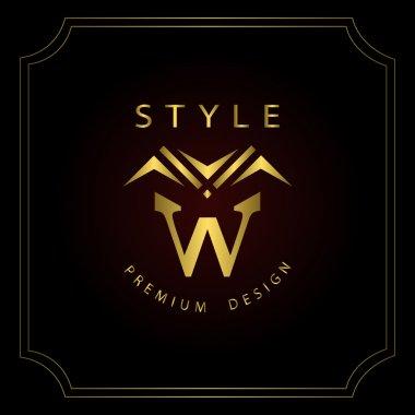 Monogram design elements, graceful template. Calligraphic elegant line art logo design. Letter emblem W. Business sign for Royalty, Boutique, Cafe, Hotel, Heraldic, Jewelry, Wine. Vector illustration