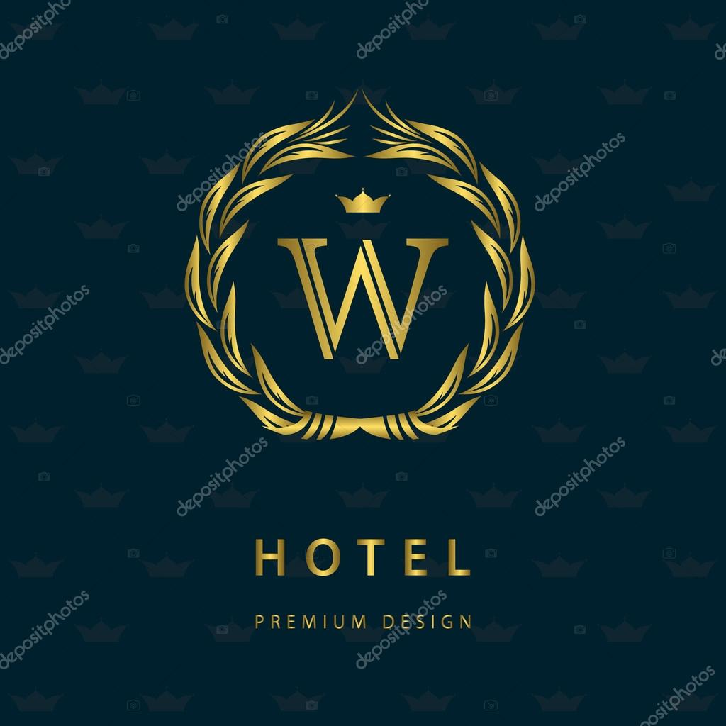 monogram design elements graceful template elegant line art logo