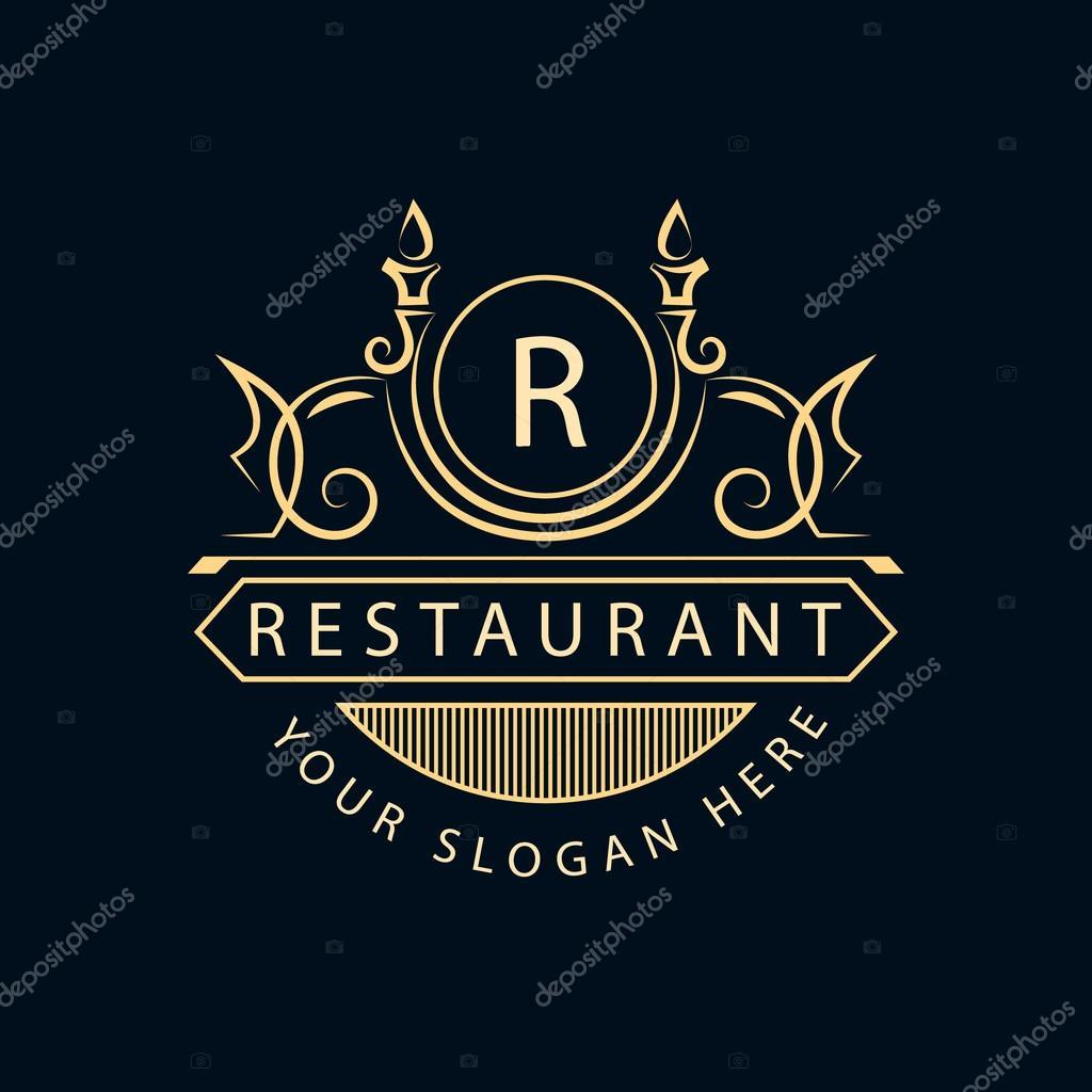 Creation De Logo Dart Calligraphique Ligne Elegante Embleme Signe Lettre R La Royaute Carte Visite Boutique Hotel Restaurant Cafe