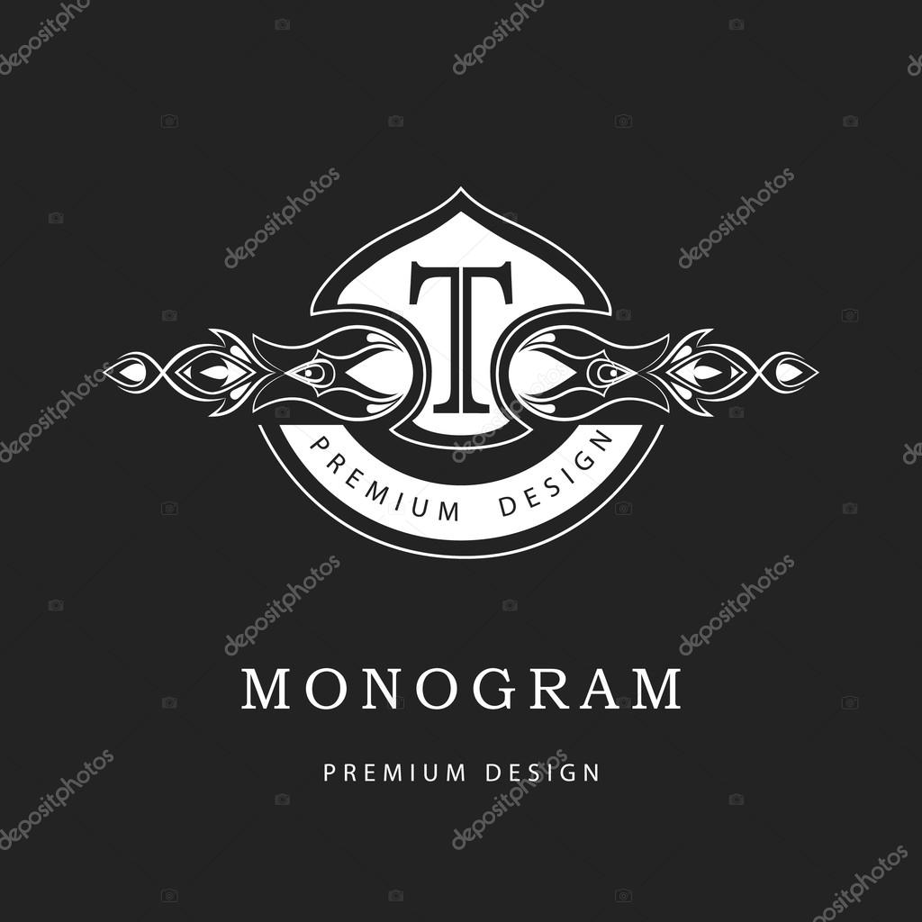 Monogram design elements, graceful template. Calligraphic elegant ...