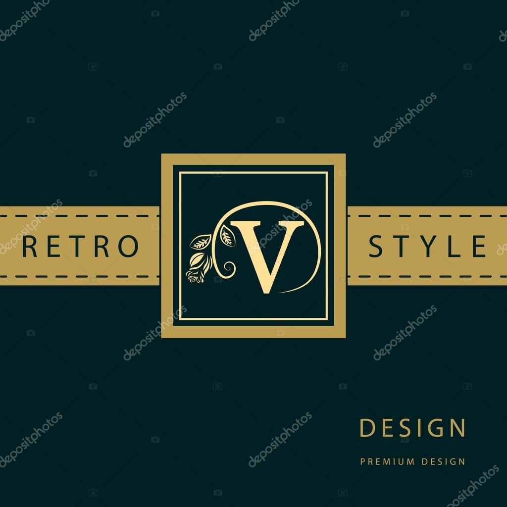Monogram Design Elements Graceful Template Calligraphic Elegant Line Art Logo Letter Emblem