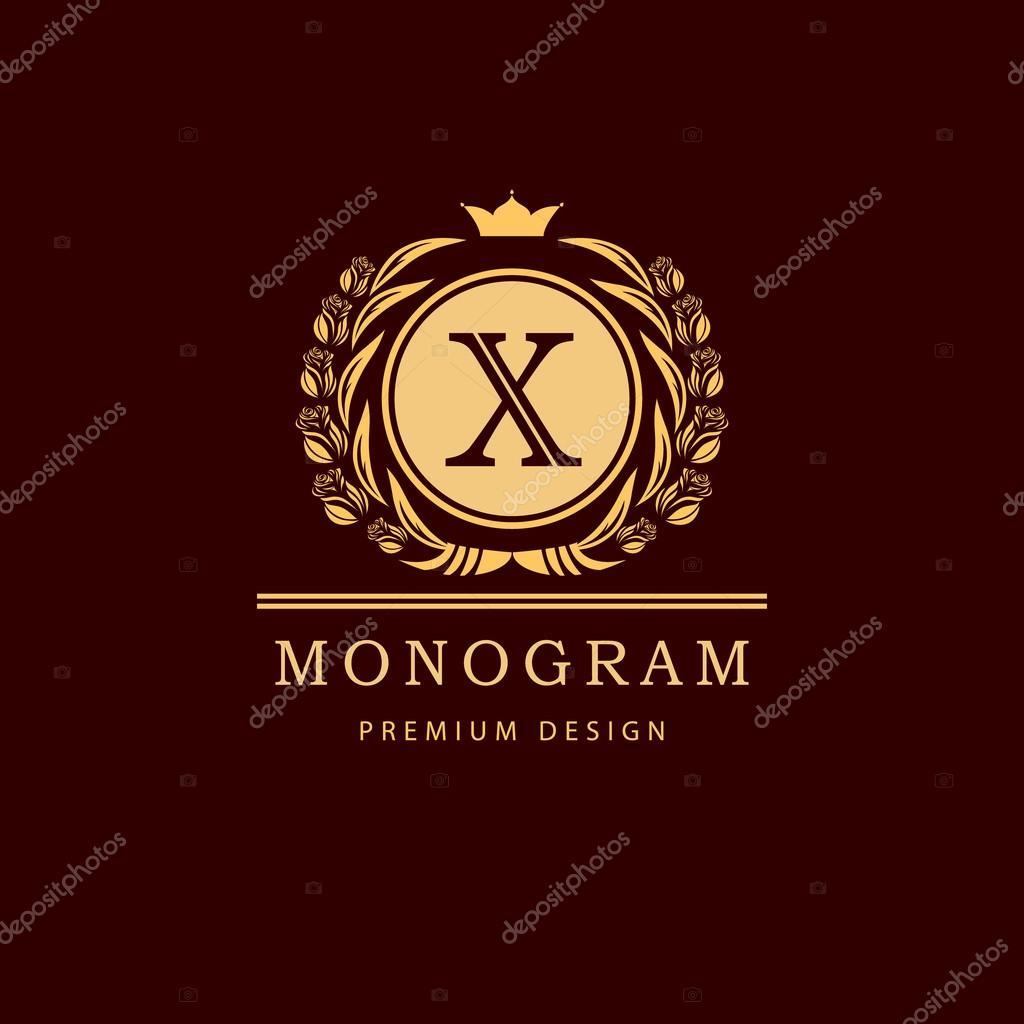 Calligraphique Elegant Art De La Ligne Conception Logo Lettre Signe Embleme X Pour Monarchie Carte Visite Boutique Hotel Restaurant Cafe