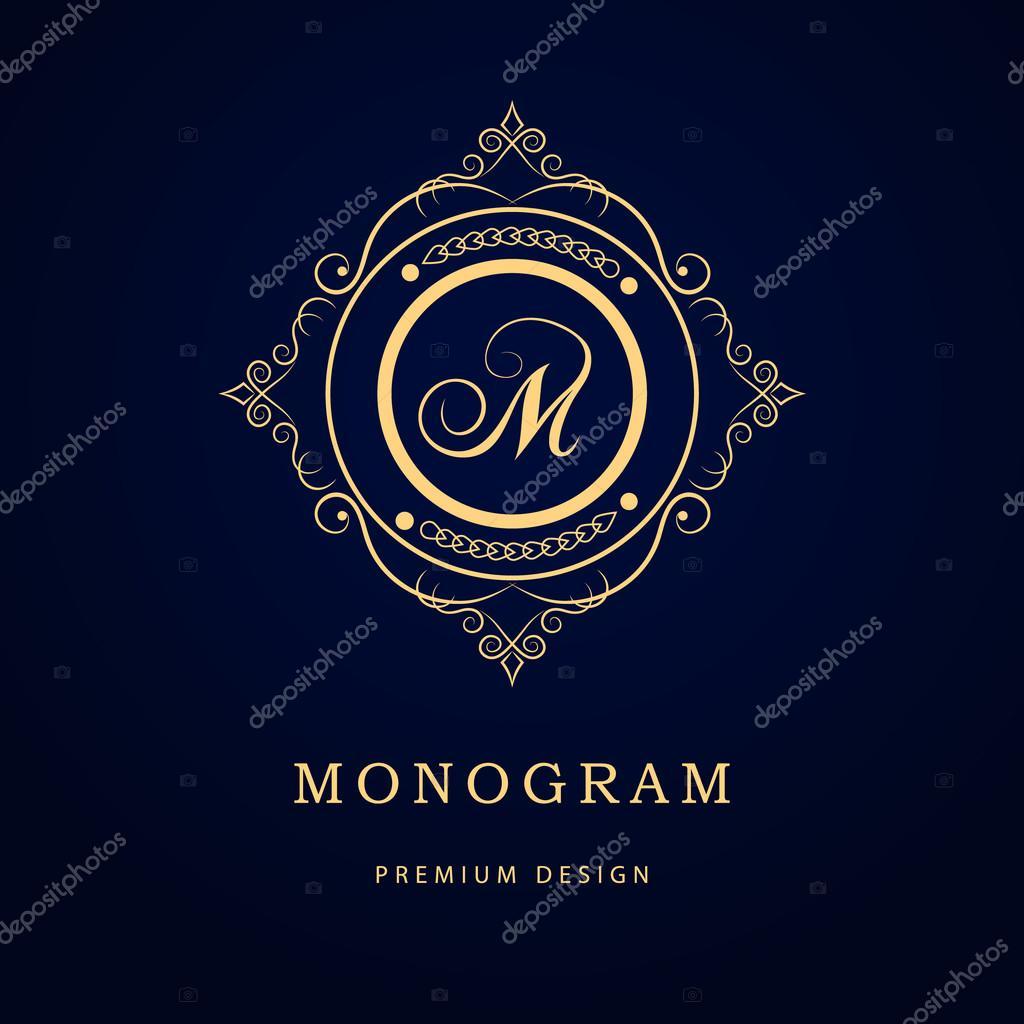 Monogram design elements graceful template calligraphic elegant letter emblem sign m for royalty business card boutique hotel restaurant cafe jewelry vetor por fomalygaut reheart Choice Image