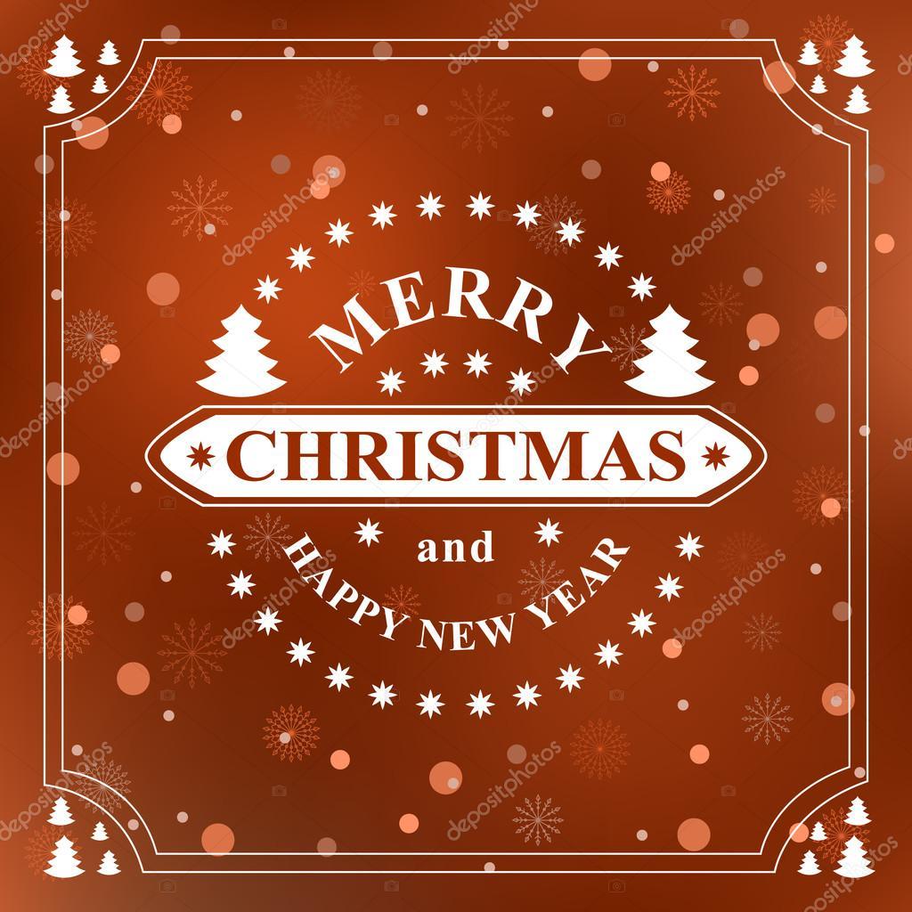 Happy new year Nachricht. Frohe Weihnachten wünschen. Grußkarten ...