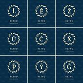 Fényképek Monogram design elements, graceful template. Calligraphic elegant line art logo design. Letter emblem sign L, E, Z, U, C, X, P, Y, G for Royalty, business card, Boutique, Hotel, Heraldic. Vector
