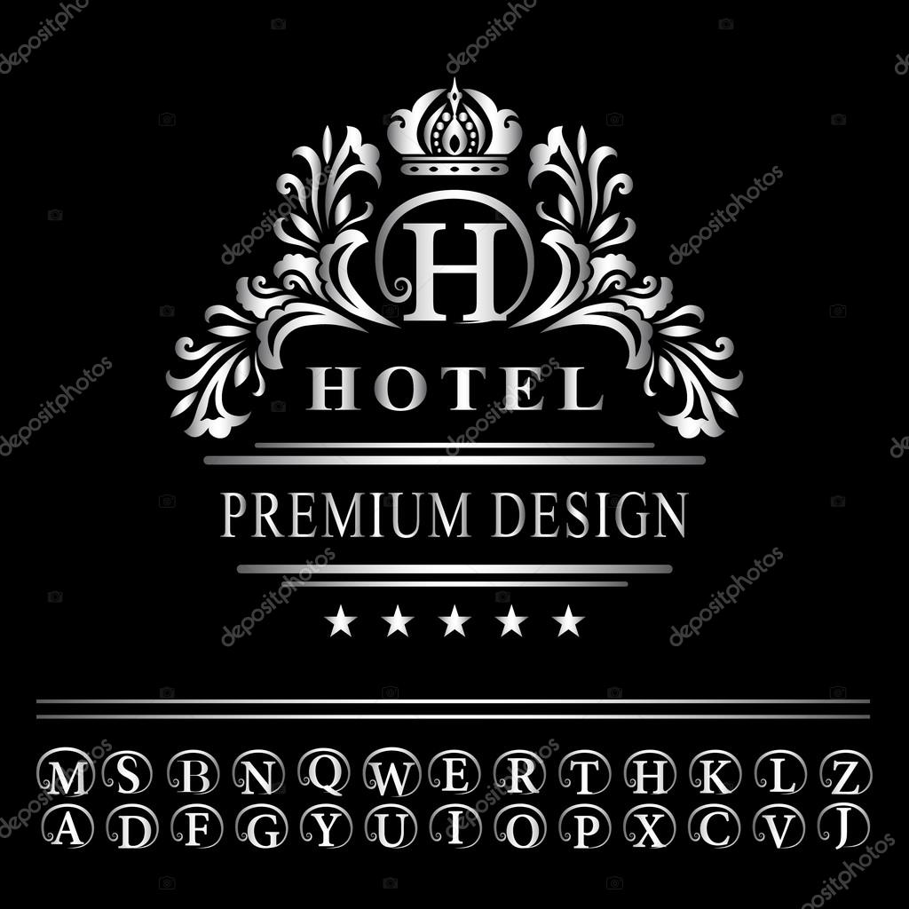 Monogram design elements graceful template elegant line art logo vector illustration of monogram design elements graceful template elegant line art logo design business silver emblem letter h for restaurant royalty pronofoot35fo Images