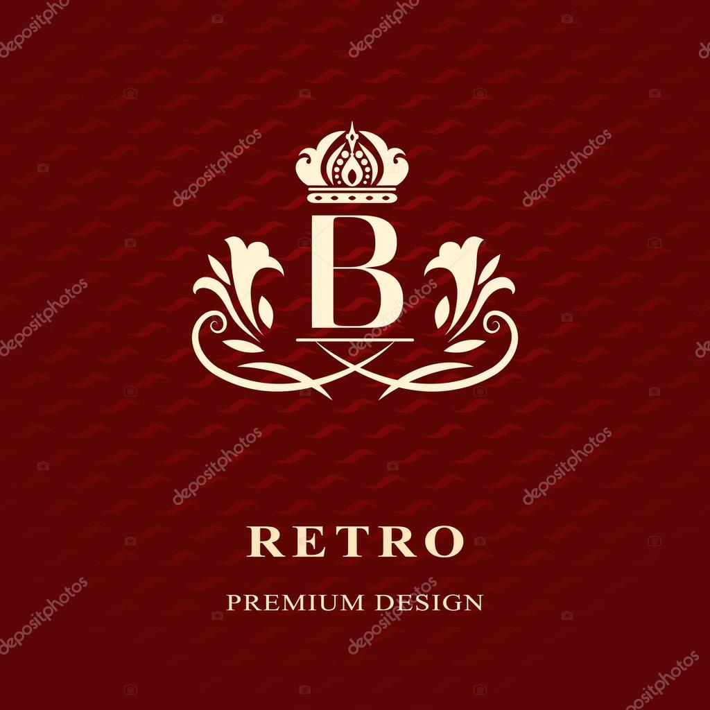 Monogram design elements, graceful template. Calligraphic Elegant ...