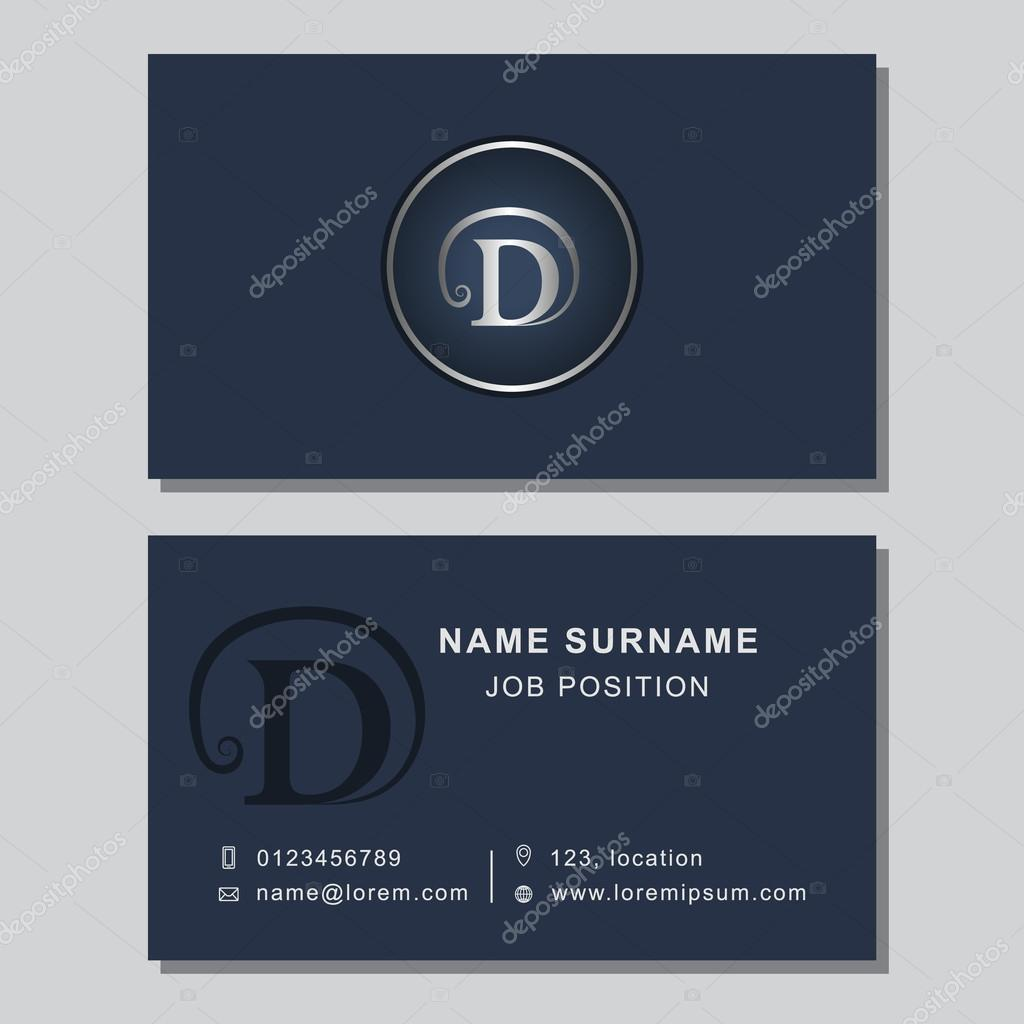 Business card template with abstract monogram design elements business card template with abstract monogram design elements creative modern graceful background letter emblem reheart Images