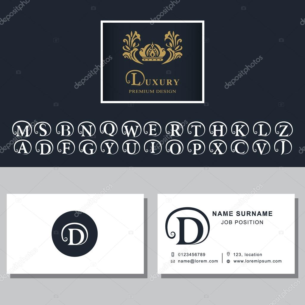 Business card template letters design for business cards abstract business card template letters design for business cards abstract modern monogram design elements letter d a b m w r t k l c s f p v e q reheart Gallery