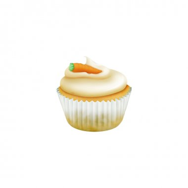 Easter carrot muffin with marzipan candy