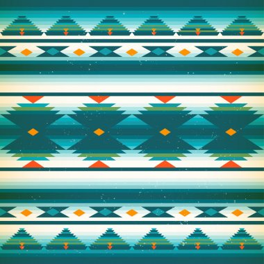 Native american pattern.  Vector american Indians background. Ethnic textile.