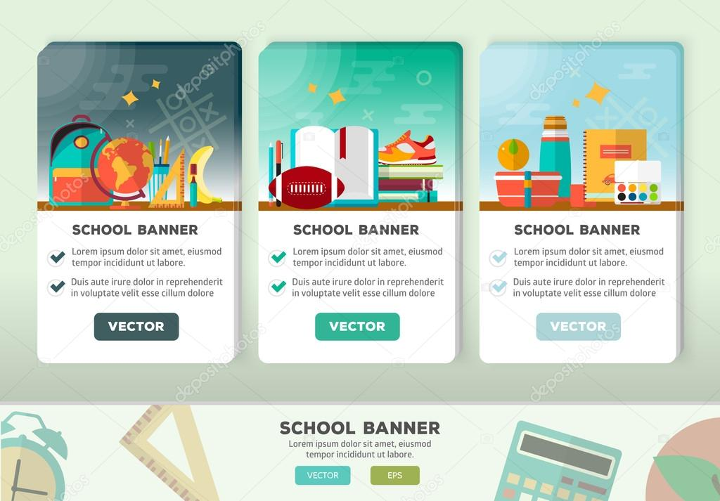 vector concepts design of education banner vertical flyer with