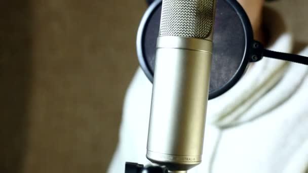 the guy singing in the Studio