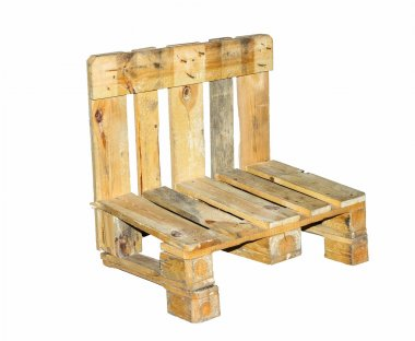 Chair built  from pallets-isolated