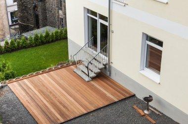 Built new wooden terrace