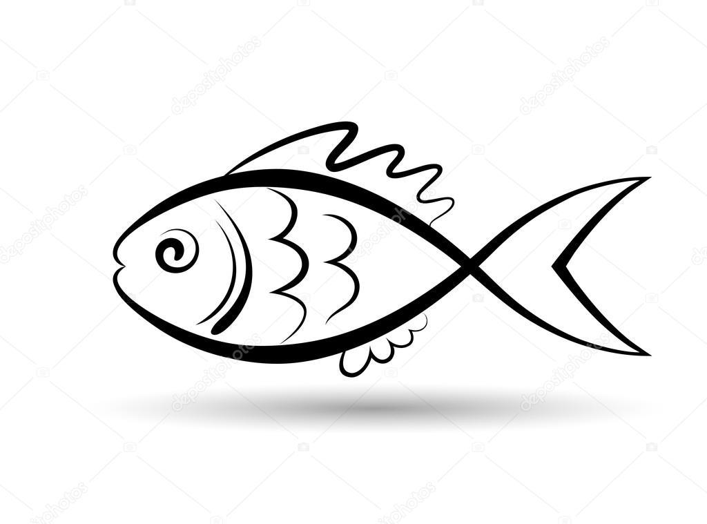 Fisch Logo Vorlage Stockvektor C Alexcosmos 100597974