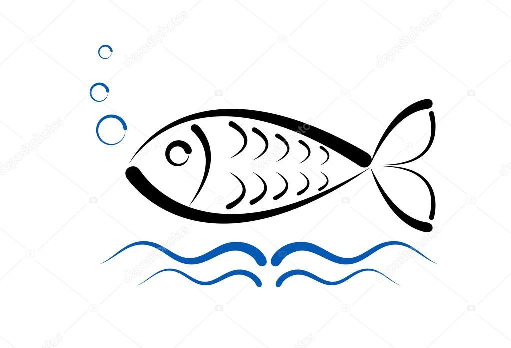 Fisch Logo Vorlage Stockvektor C Alexcosmos 100598318