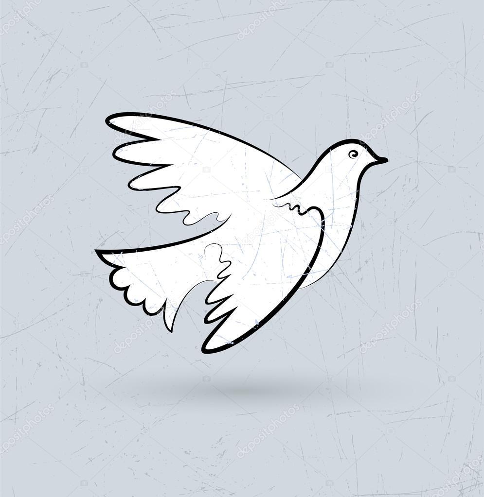 фото как нарисовать белого голубя выпученные глазки животных