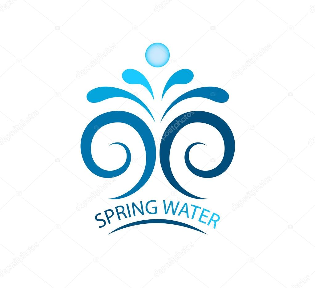 Spring water stock vector alexcosmos 63856723 vector illustration of sign for sea waves waves symbols logo template vector by alexcosmos biocorpaavc Choice Image